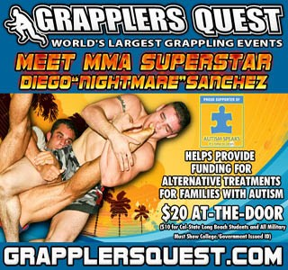 Diego Sanchez Supporting Autism at Grapplers Quest